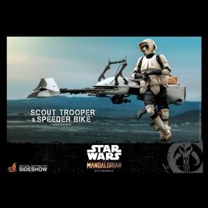 Star Wars The Mandalorian figurine 1/6 Scout Trooper & Speeder Bike 30 cm